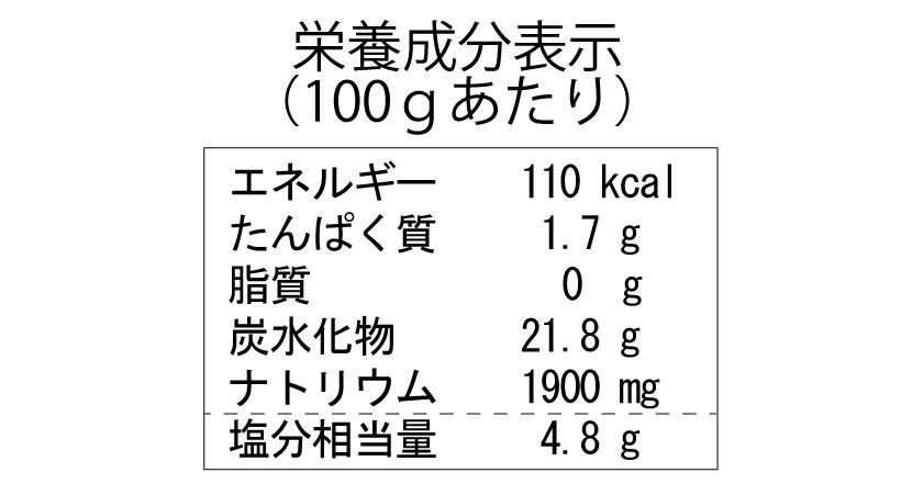栄養成分表示 ゆず玉葱ドレッシング