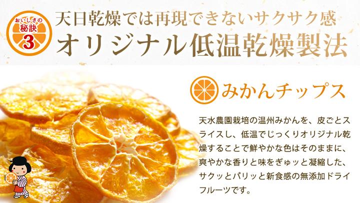 みかんチップス低温乾燥製法